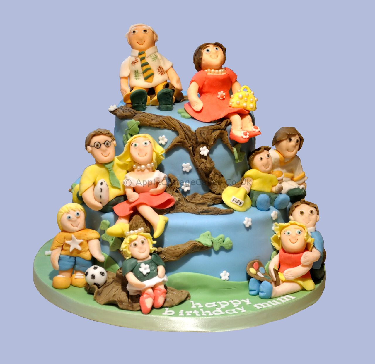 Family Portrait Th Birthday Cake For A Special Grandad And Dad - Family birthday cake ideas