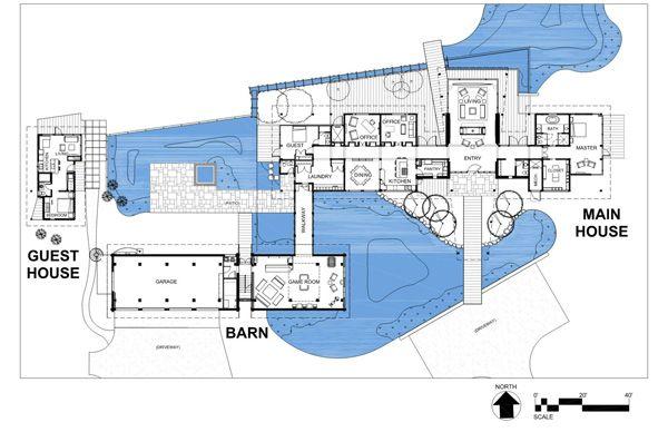 Wonderful Retreat Nearby The Mountains Inspiring Freshness Usa Architectural Floor Plans Architect Villa Plan