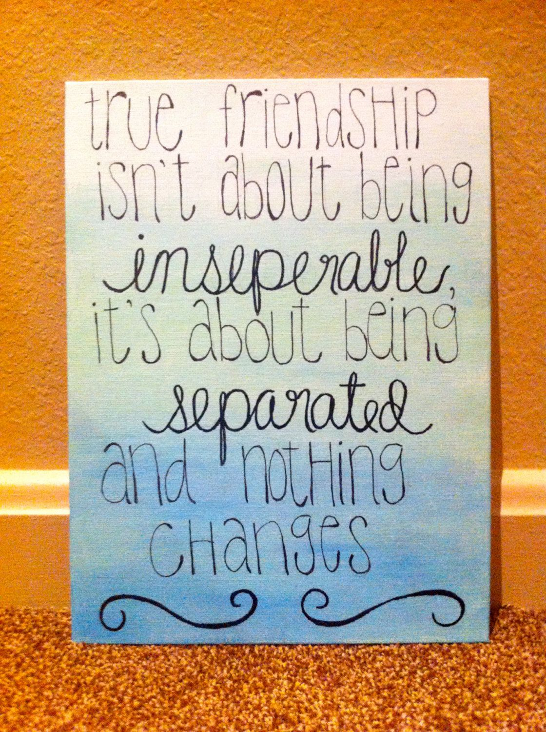 Friendship/Sisterhood quote ombre canvas by KMCreations11 on ...
