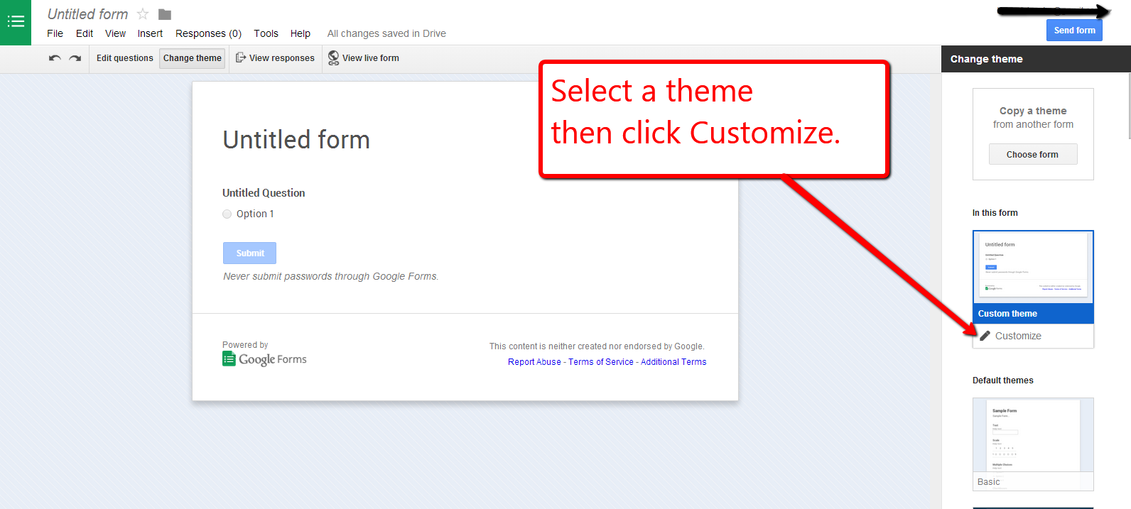 Now You Can Customize Background Images And Themes In Google Forms Here S How Google Forms Educational Technology Google Education