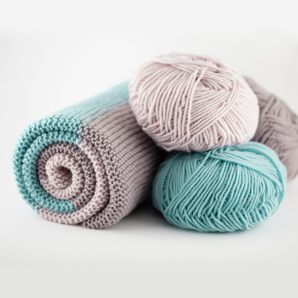 Simple baby blanket is a stunning yet easy to knit blanket the woven simple baby blanket knit in dk smooth twist merino suitable for beginner free pattern bankloansurffo Choice Image