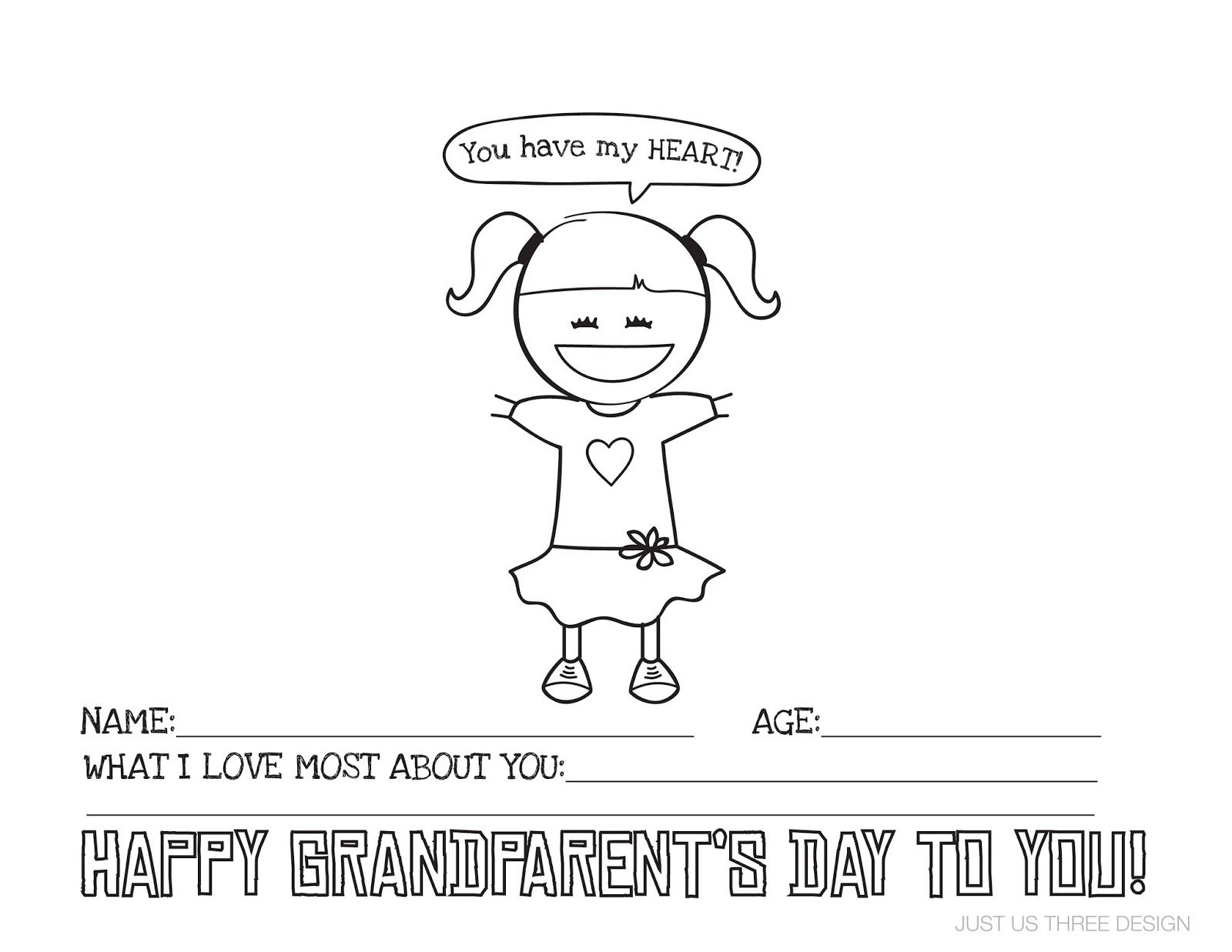 Grandparents Day Printable With Images