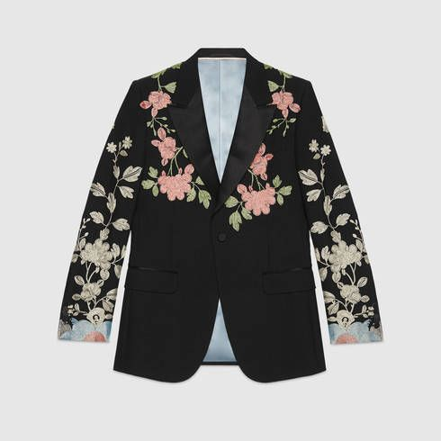 GUCCI Marseille Embroidered Wool Mohair Evening Jacket. #gucci #cloth #men's jackets