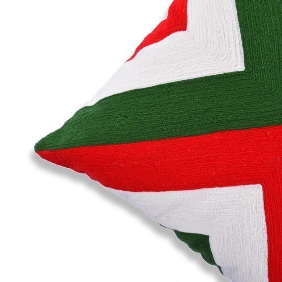 Boho Chic Decor fully Embroidered Cotton Outdoor Cushion Geometric 18 X 18 Home | boho