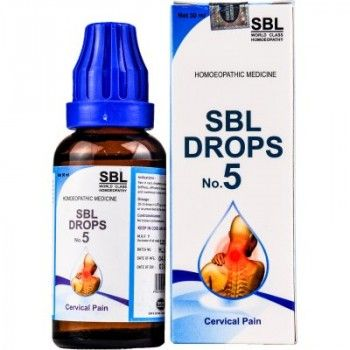 SBL Homeopathy Drops No 5 for Cervical Pain #homeopathic