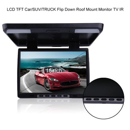 Banos Tft.Flip Down Monitor Roof Mount Tv For Cars 15 4 High