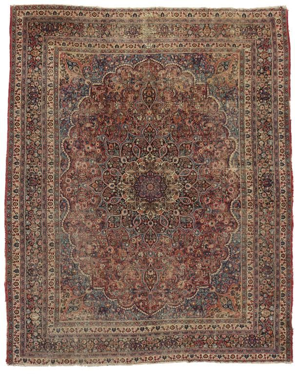 Distressed Antique Persian Mashhad Rug With Modern Industrial Style From A Unique Collection Of Antique And Modern Modern Persian Rug Modern Industrial Rugs