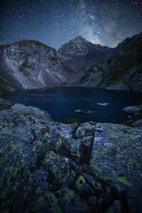 The Dark Lake, by Maxime Courty    This is the Labas lake in the french Pyrénées. weather conditions were particularly appropriate to capture the milky way.