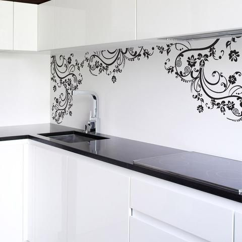 Vinyl Wall Decal Sticker Swirl Flower Floral Design 262 Wall