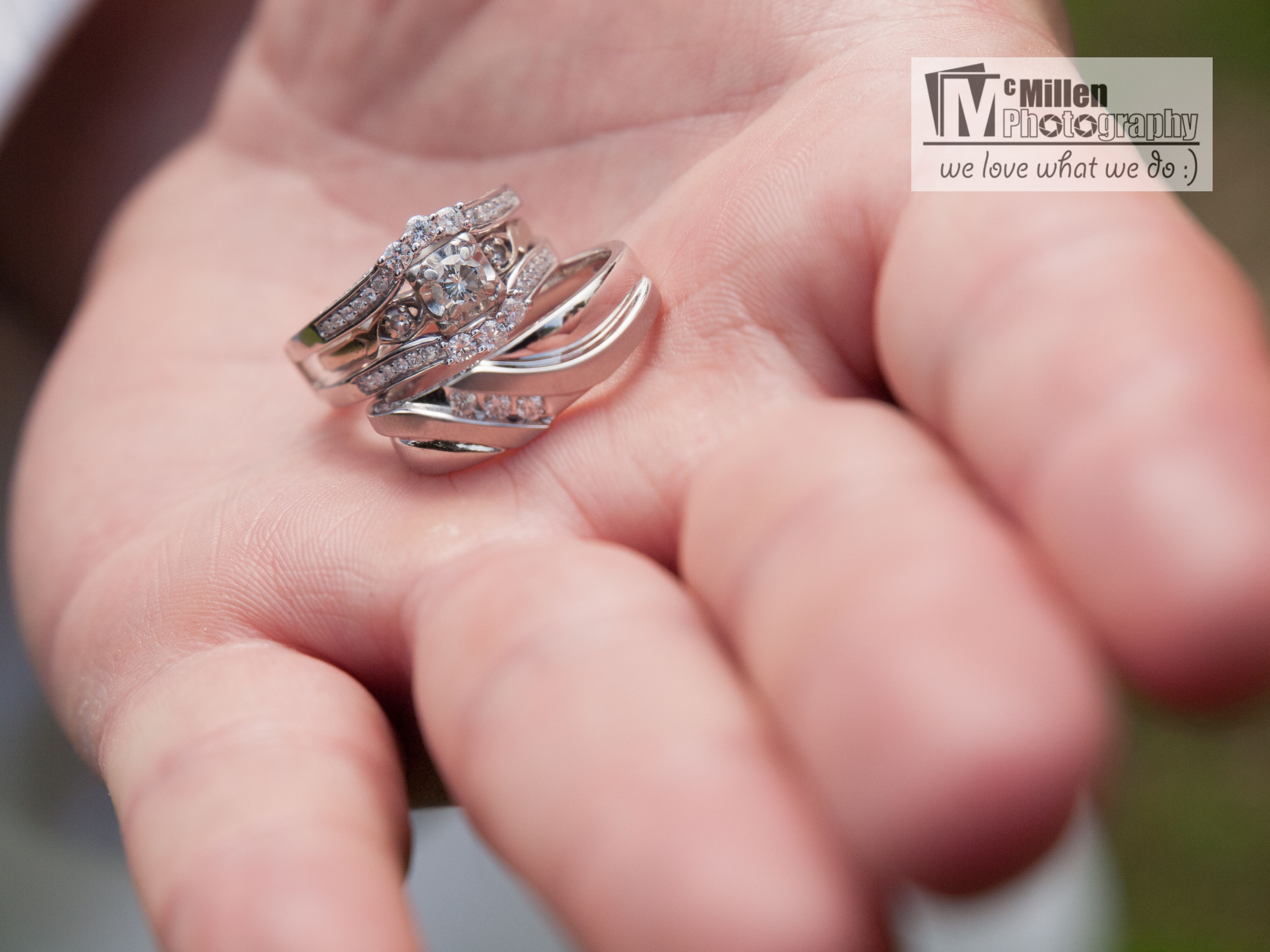 Very Simple elegant wedding rings. Also love this ring shot in the ...