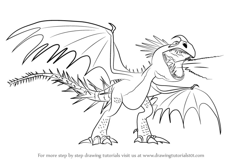 Learn How to Draw Deadly Nadder from How to Train Your Dragon (How ...
