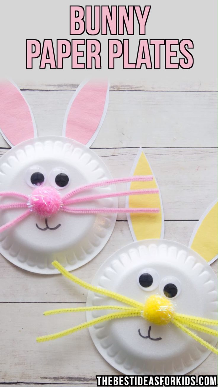 Photo of Paper Plate Easter Bunny Craft