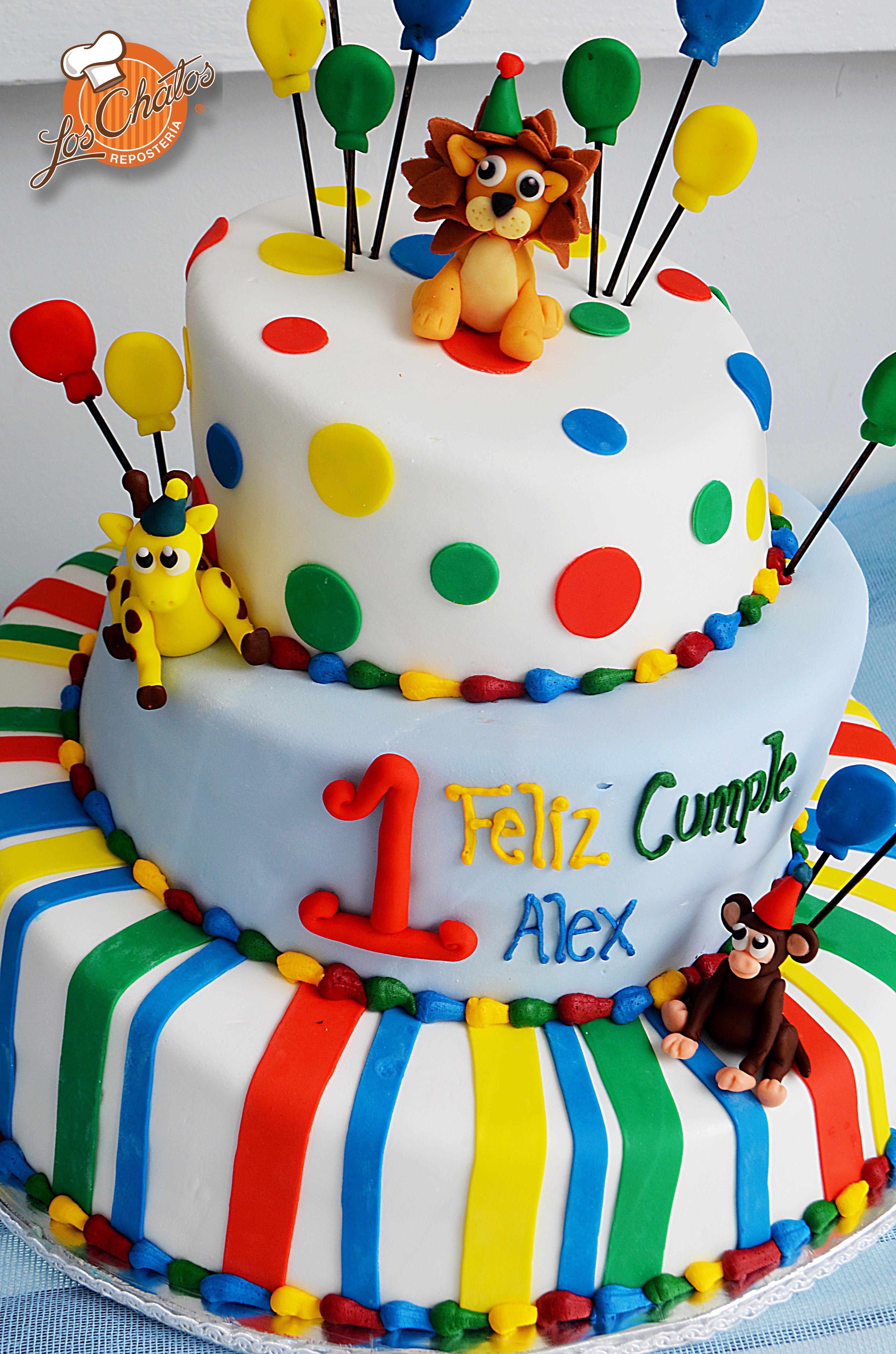 Pastel para un a o pasteles infantiles ni os loschatos for Decoracion cumpleanos bebe 1 ano