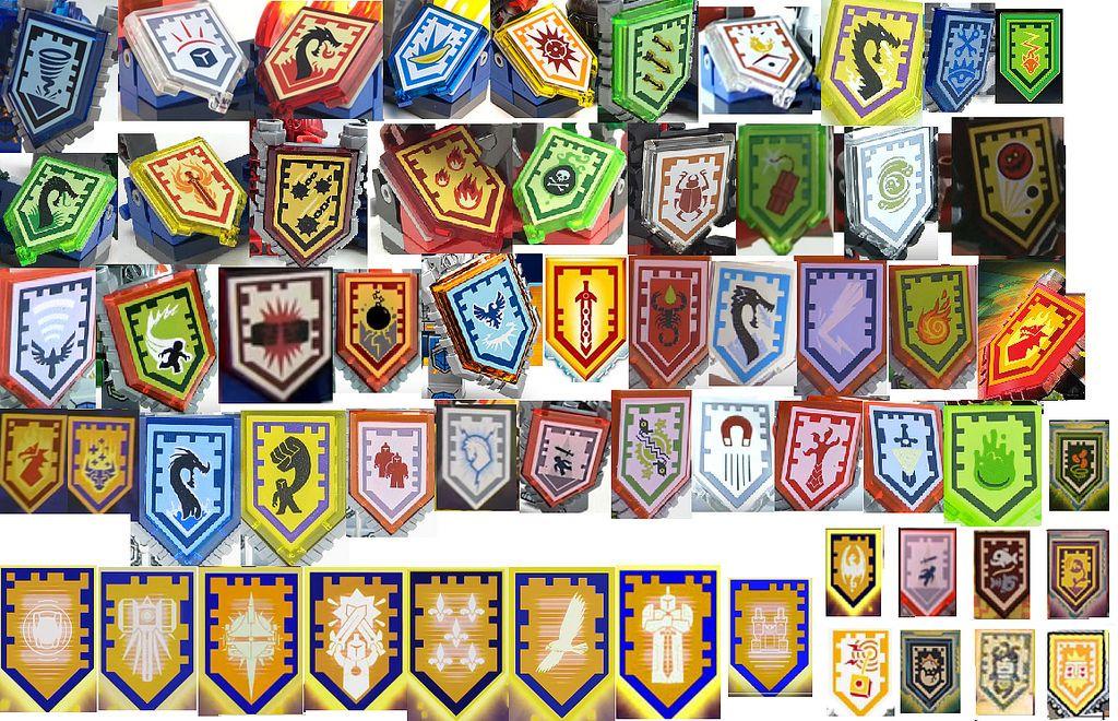 Nexo Knights App Shields | Knight, Lego and Legos