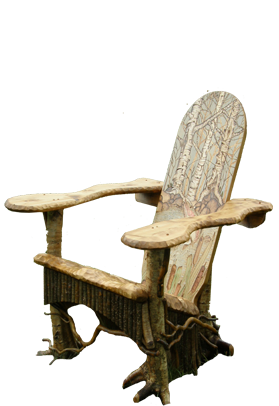Nice An Adirondack Root Chair,made By Bald Mountain Rustic, In Keene,NY.