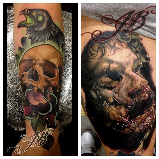 john barrett at black 13 tattoo parlor in nashville tn