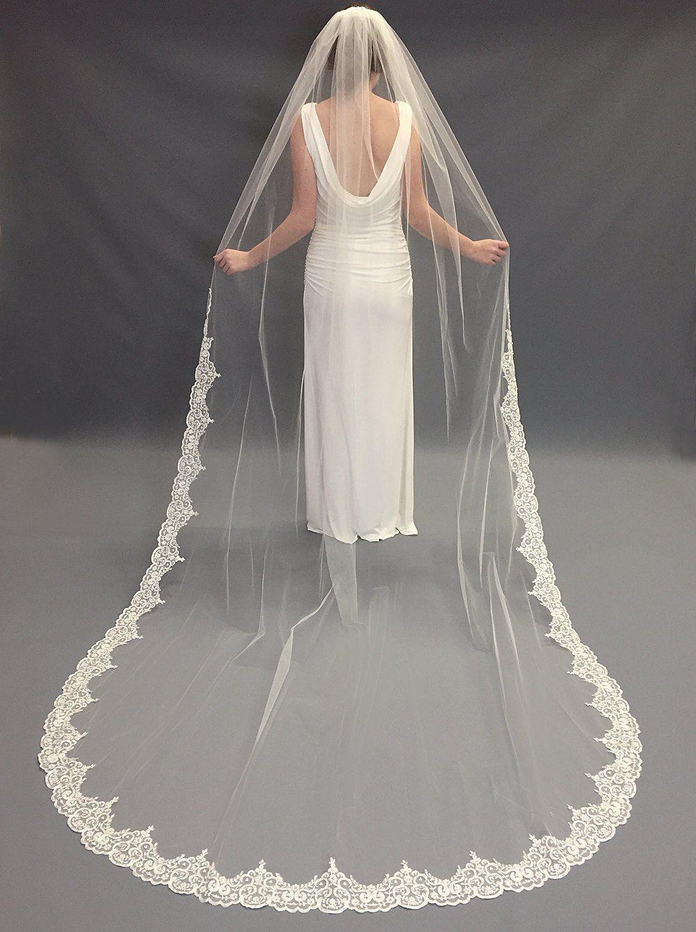 Pearl Lace Wedding Veil Rhinestone Bridal Veil Lace Etsy
