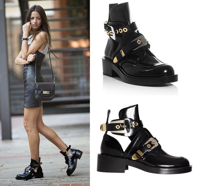 2017 Cutout buckle boot black genuine leather ankle boots brand shoes women motorcycle boots riding gladiator bootie flats 34-42 	96% of buyers enjoyed this product!	21 orders Price: US $141.75 & FREE Shipping