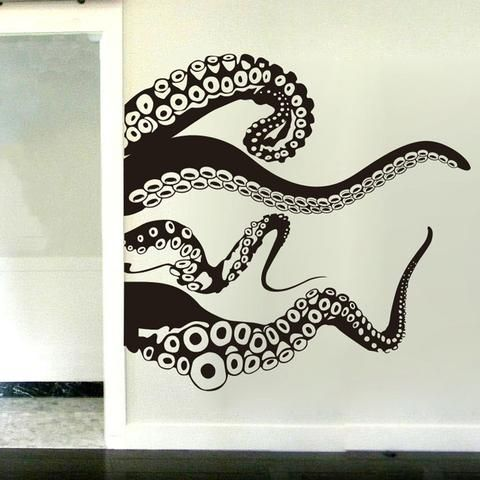 Each our Squid Wall Decal is made of high quality, self-adhesive and waterproof vinyl. Our vinyl is rated to last 5 years outdoors and virtually forever indoors. Decals can be applied to any clean, sm
