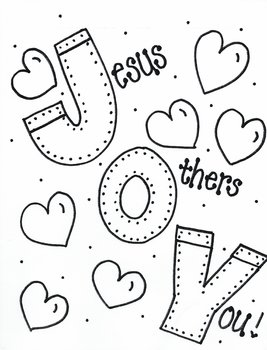 Coloring Page From Joy For The Journey Coloring Book Bible Verse
