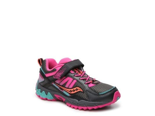 9ca42826d2a4 Women s Saucony Excursion Girls Toddler   Youth Running Shoe - Black Pink