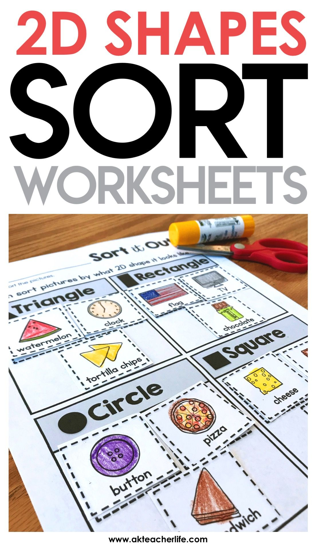 2d Shapes Sort Worksheet