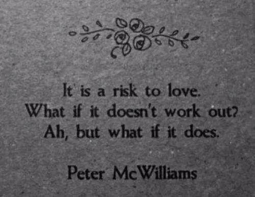 Take risks...