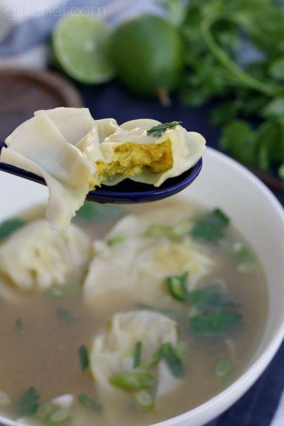 Lemongrass Chicken Dumpling #Soup - Dumplings All Day Wong blog tour + giveaway via @girlichef