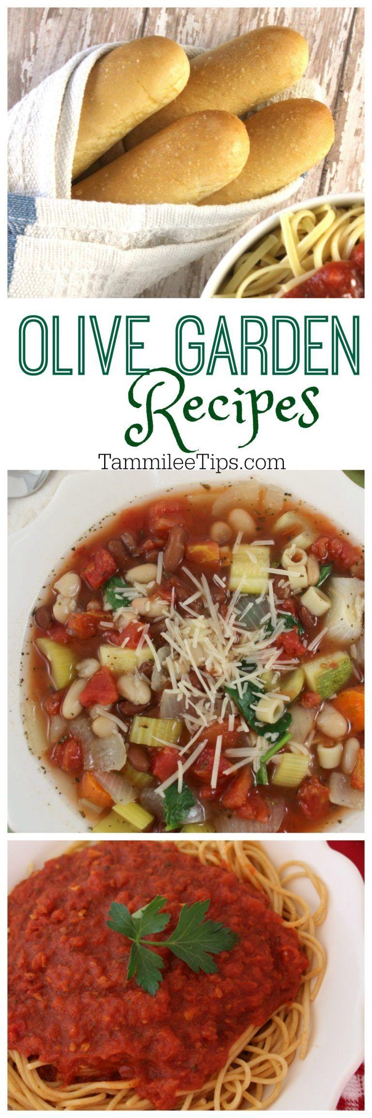 CopyCat Olive Garden Soup, Breadsticks, Marinara Sauce and