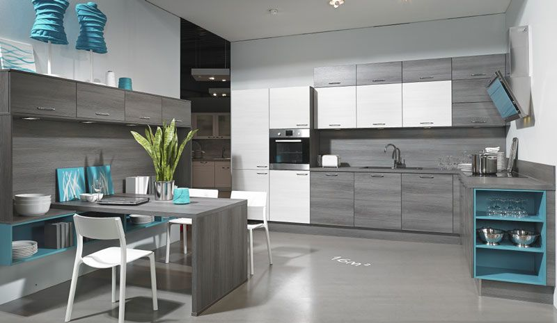 Plan Gris Gamme Cuisines Apartment Interior Kitchen Space Cool Kitchens