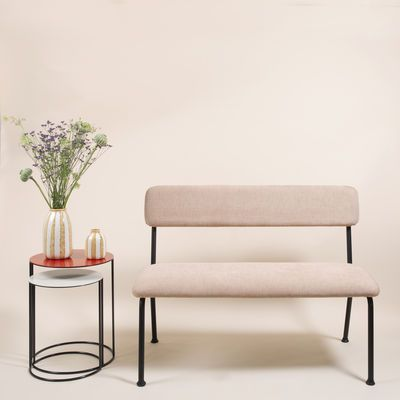 Banc avec dossier Le Tube Small Maison Sarah Lavoine - Rose | Made In Design