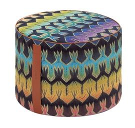 Roing Cylinder Pouf Contemporary Upholstery Fabric Miscellaneou