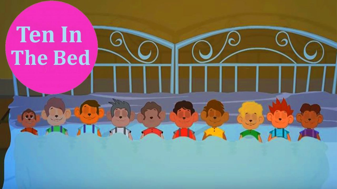 Ten In The Bed Nursery Rhymes With Lyrics Animation English Cartoons For Kids