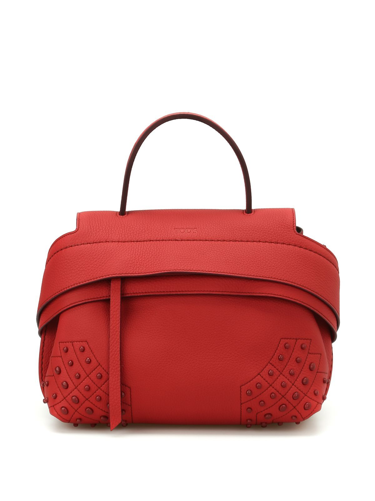 10e80fd1bd07 TOD S WAVE LEATHER MINI SHOULDER BAG.  tods  bags  shoulder bags  hand bags   leather  lining