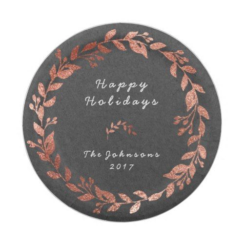 Cottage Pink Rose Gold Gray Christmas Paper Plate  sc 1 st  Pinterest & Cottage Pink Rose Gold Gray Christmas Paper Plate | Christmas paper ...