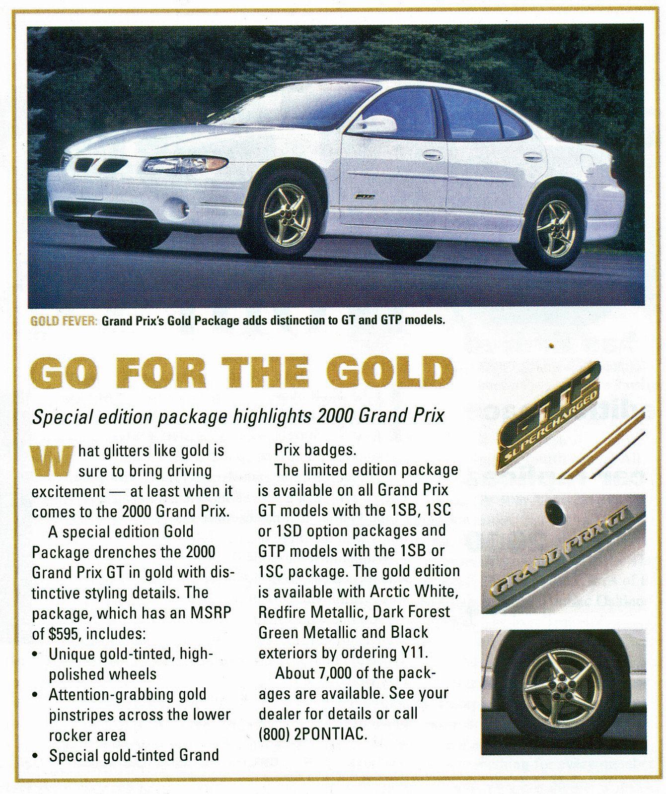 medium resolution of 2000 pontiac grand prix gtp gold edition