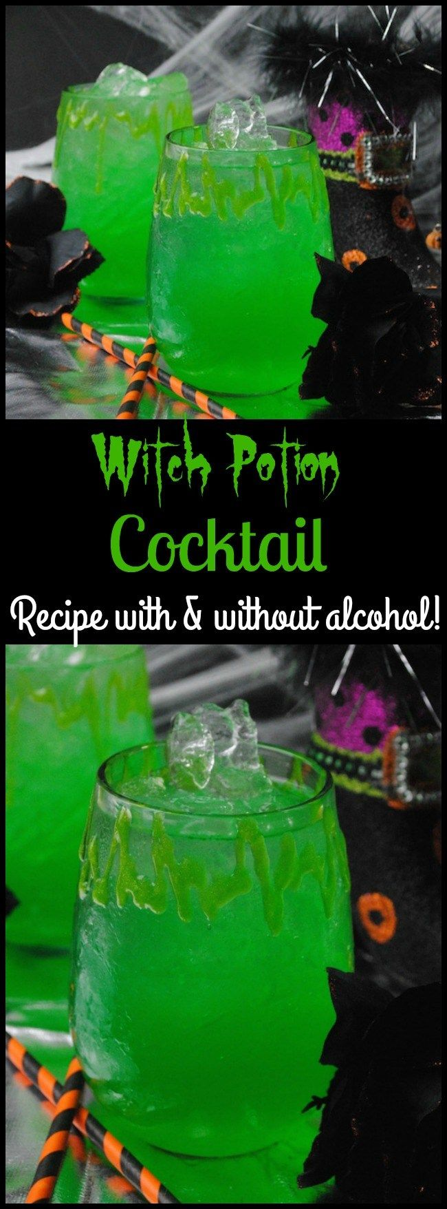 Witches Potion Cocktail Recipe With A Non-Alcoholic Option