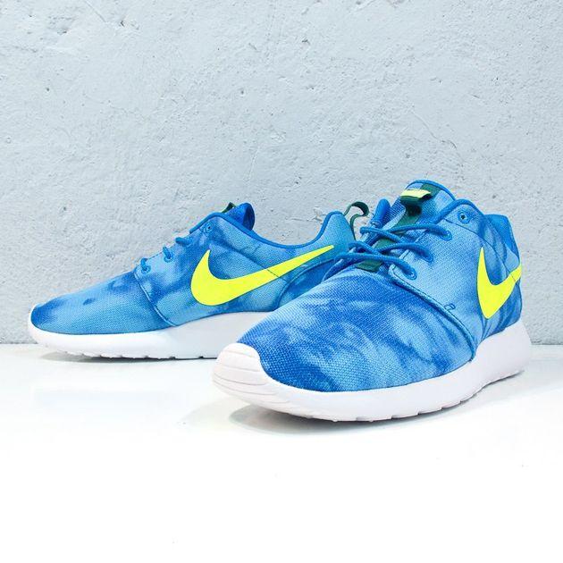 new products e6f92 15c33 Nike Roshe Run 'Marble  – Photo Blue   Electric Green – Mystic Green