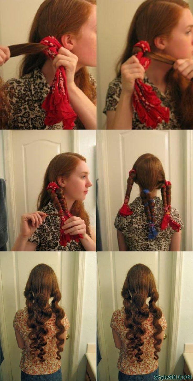 diy heat curls tutorials