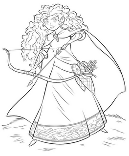 Meridia from Brave | Coloring Pages | Pinterest