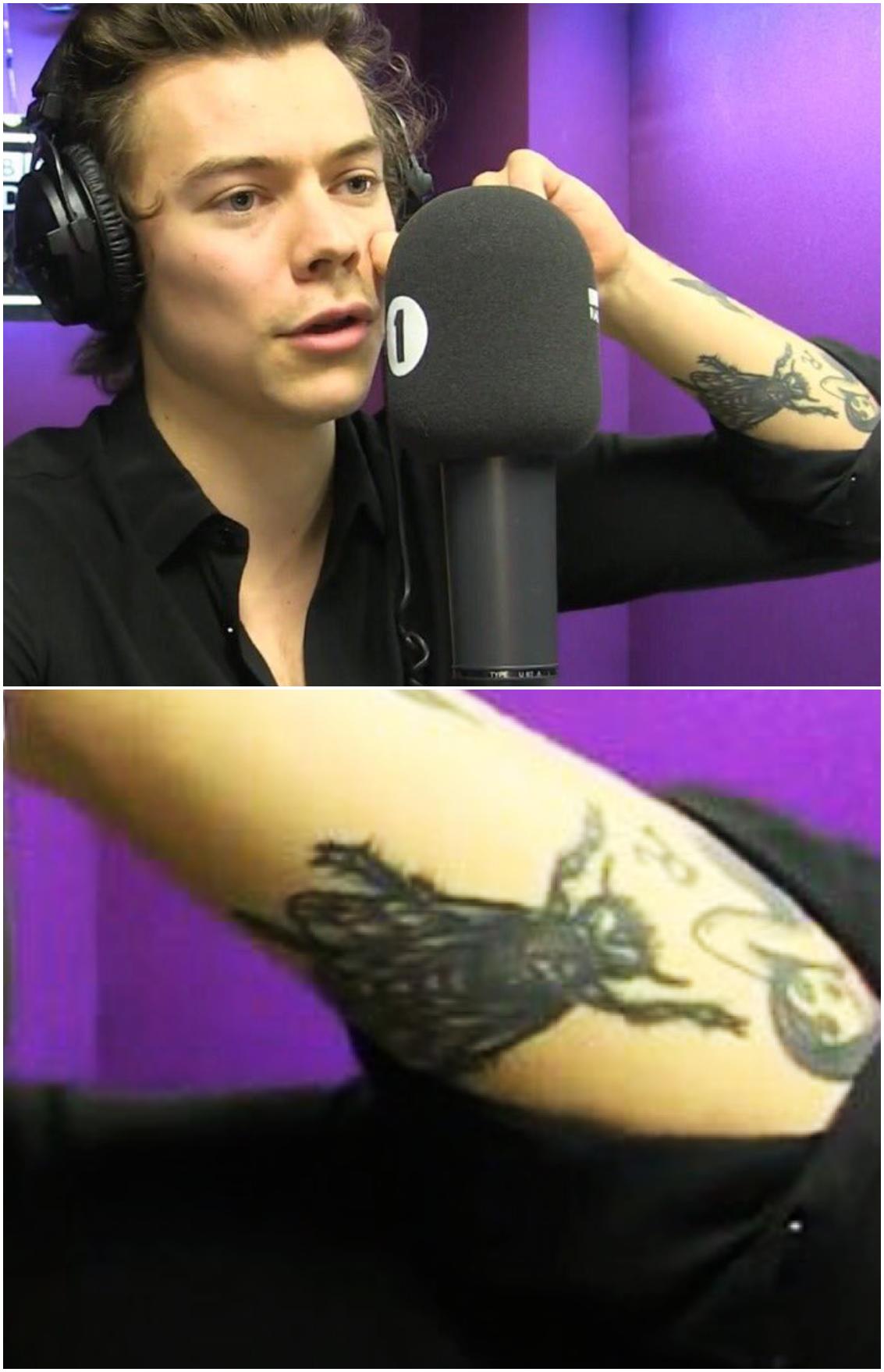 A Clearer Photo Of Harry S New Bee Tattoo Follow Rickysturn Harry