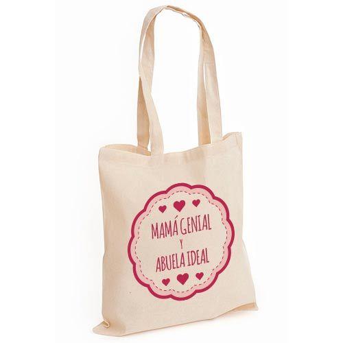 ac2e879bd #Bolsa #Personalizada con diseño original mamá genial y abuela ideal en  rosa #Regalo para el Día de la madre Visita nuestra tienda online:  Powerprint.es