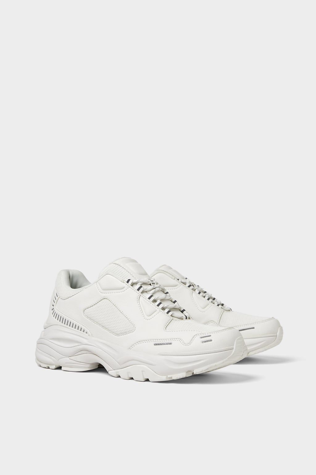 huge discount 42fe0 28633 Image 3 of THICK-SOLED WHITE SNEAKERS from Zara