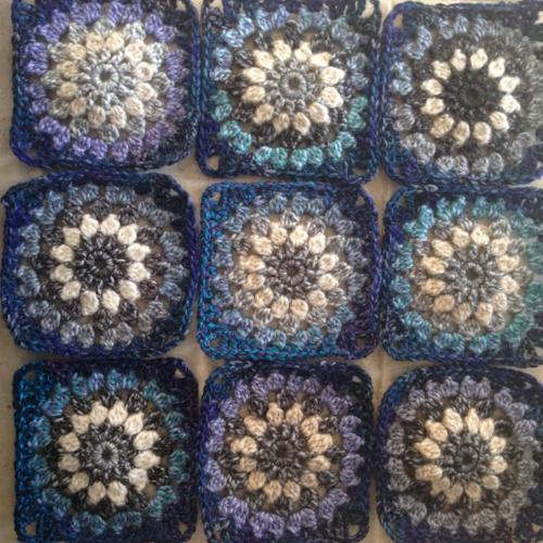 Deep Blue Granny Square Afghan Pattern Afghan Patterns Granny