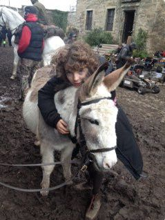 BTS pics of Romann Berrux, Maril Davis and Anne Kenney - could he BE any cuter?