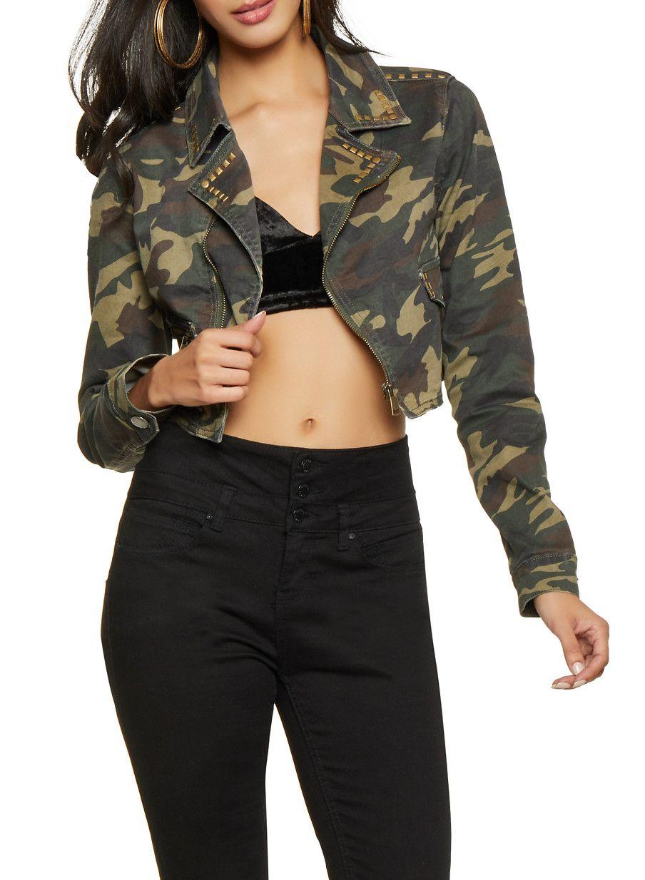 e2cc25e1ae454 VIP Cropped Camo Denim Jacket in 2019 | Products | Camo denim jacket ...
