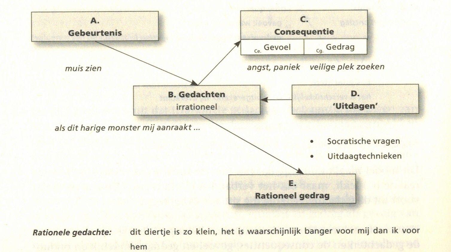 Wonderbaarlijk ABC-model volgens de RET | Cognitieve gedragstherapie AS-75