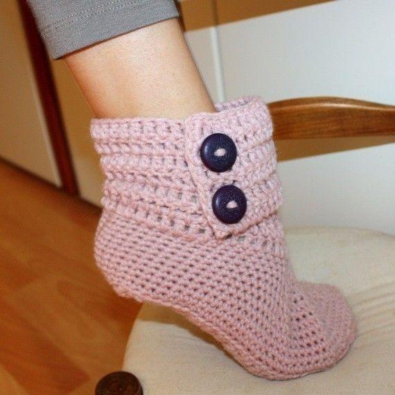 crochet slippers | Cozy Slipper Boots DIY | Pinterest | Tejido ...