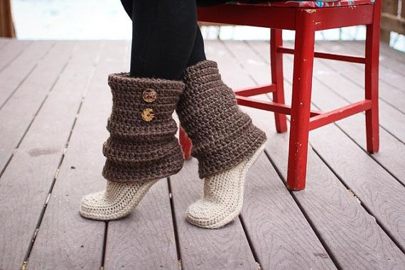 Crochet Pattern - Audrey Boots (Adult Sizes) | Pinterest | Nähideen ...