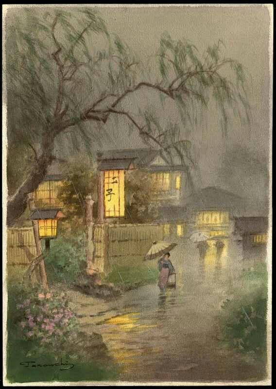 Картинки по запросу Акварели японской художницы  Terauchi Fukutaro (1891 - 1964)